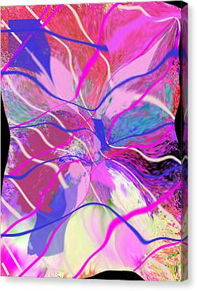 Original Contemporary Abstract Art Flowers From Heaven Canvas Print by RjFxx at beautifullart com