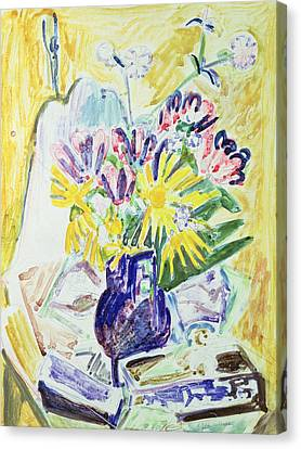 Flowers In A Vase Canvas Print by Ernst Ludwig Kirchner