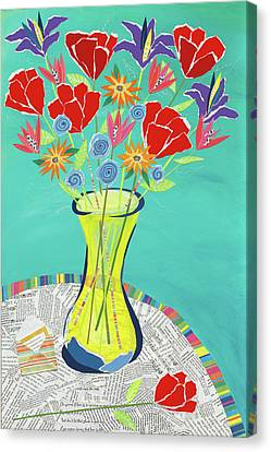 Flowers In A Vase Canvas Print by Jennifer Peck