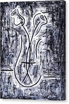 Flowers In A Vase Canvas Print by Kamil Swiatek