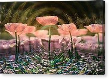 Flowers In Heat Canvas Print by PainterArtist FIN