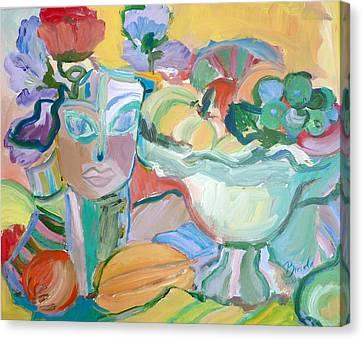 Flowers In Her Hat Canvas Print by Brenda Ruark