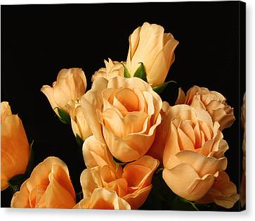 Flowers In Mourning Canvas Print by Oscar Alvarez Jr