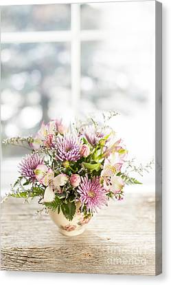 Flowers In Vase Canvas Print by Elena Elisseeva