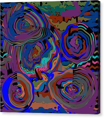 Original Contemporary Modern Art Flowers Of Life Canvas Print