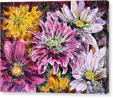 Flowers Of Love Canvas Print by Zaira Dzhaubaeva
