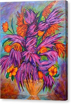 Flowers Of Passion Canvas Print by Phoenix The Moody Artist