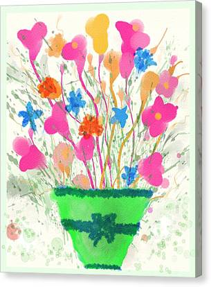 Flowers Of Spring Canvas Print by Mary M Collins