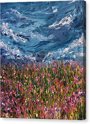 Flowers Of The Field Canvas Print by Meaghan Troup