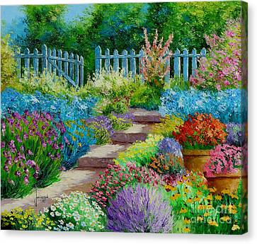 Pathway Canvas Print - Flowers Of The Garden by Jean-Marc Janiaczyk
