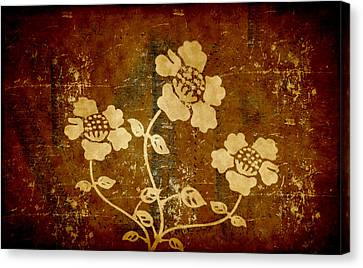 Flowers On The Wall Canvas Print by Milena Ilieva