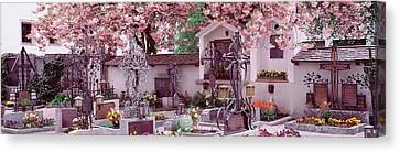 Flowers On Tombstones, Tirol, Austria Canvas Print by Panoramic Images