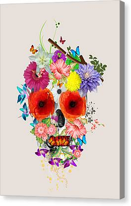 Flowers Scull  Canvas Print by Mark Ashkenazi