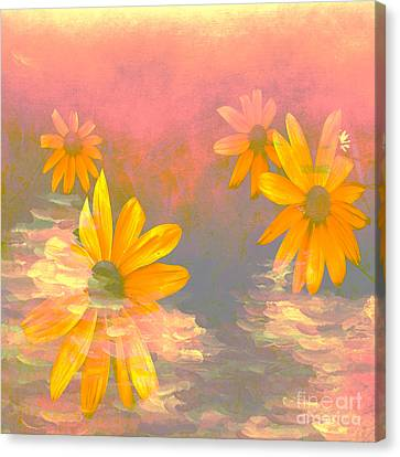 Flowers With A Painterly Touch Canvas Print by Beverly Guilliams