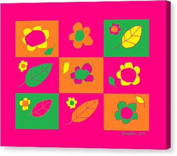 Flowershop Window Larnaca 2 Canvas Print by Anita Dale Livaditis