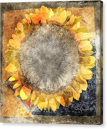 Digital Sunflower Canvas Print - Flowersun - 09279gmn22b3a22 by Variance Collections