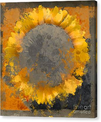 Digital Sunflower Canvas Print - Flowersun - 09279gmn22b3ba13a by Variance Collections