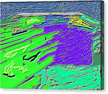 Flowing Edge World Digital Painting Canvas Print by Colette Dumont