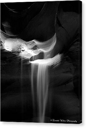 Canvas Print featuring the photograph Flowing Sand In Antelope Canyon by Lucinda Walter