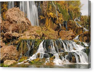 Flowing To The Snake Canvas Print by Jim Southwell