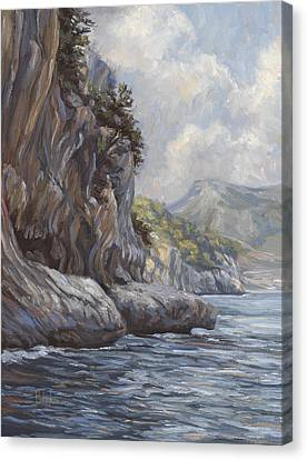 Flowing Waters Canvas Print by Lucie Bilodeau