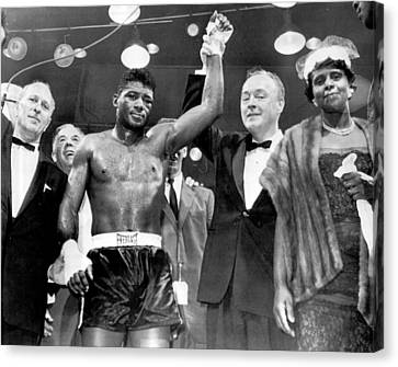 Boxer Canvas Print - Floyd Patterson After Win by Retro Images Archive