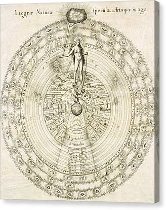 Fludd's Cosmology, 1617 Canvas Print by Science Photo Library