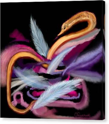 Fluff Canvas Print by Christine Fournier