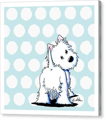 Fluffy Butt Westie Canvas Print