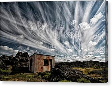 Shack Canvas Print - Fluffy Sky by ?orsteinn H. Ingibergsson