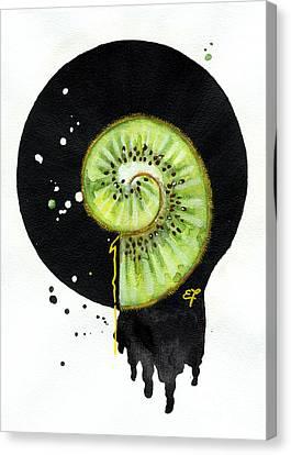 Fluidity 12 - Elena Yakubovich Canvas Print by Elena Yakubovich
