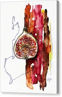 Fluidity 15 -fresh Fig- Elena Yakubovich Canvas Print