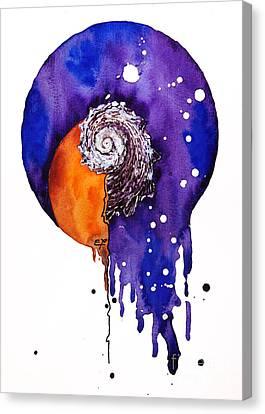 Fluidity 16 - Mollusc Shell - Elena Yakubovich Canvas Print by Elena Yakubovich