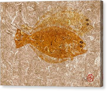 Fluke W Shadow On White Unryu/mulberry Paper Canvas Print