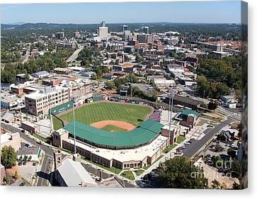 Fluor Field At The West End Greenville Canvas Print by Bill Cobb