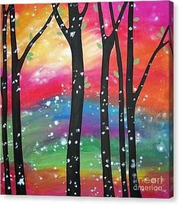 Flurries Canvas Print by Karla Gerard