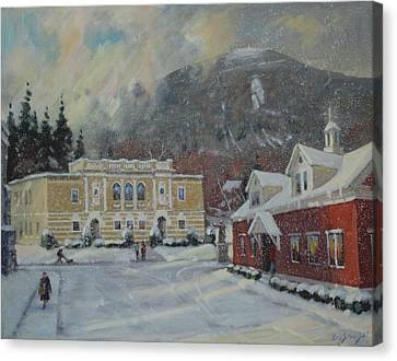 Flurries Over Mount Greylock Canvas Print