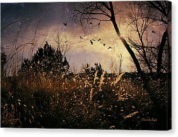 Canvas Print featuring the photograph Flushed by Karen Slagle