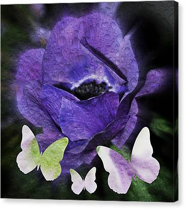 Canvas Print featuring the photograph Flutterbys by Amanda Eberly-Kudamik