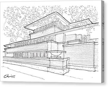 Flw Robie House Canvas Print