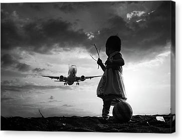 Passenger Plane Canvas Print - Fly Again by