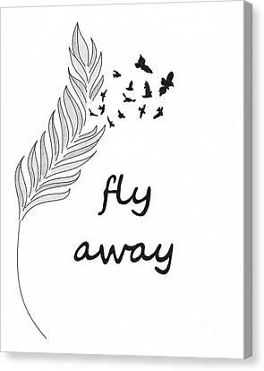 Fly Away Canvas Print by Jennifer Kimberly