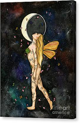 Fly By Night Canvas Print by Nora Blansett