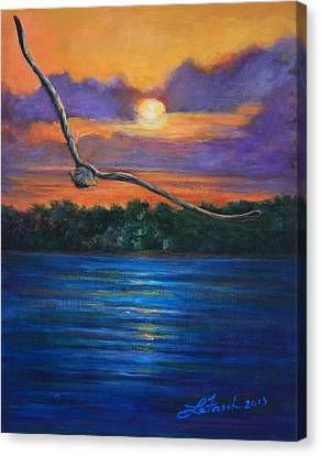Fly By Night Canvas Print by Susi LaForsch