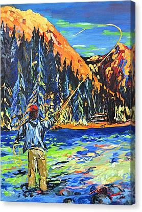 Fly Fisherman Canvas Print