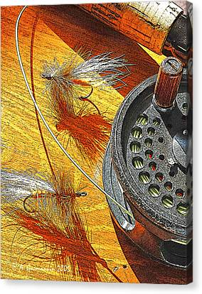 Fly Fisherman's Table Digital Art Canvas Print