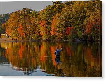 Fly Fishing Canvas Print by Brian MacLean