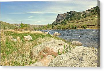 Fly Fishing Stillwater River Montana Canvas Print by Jennie Marie Schell