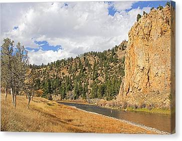 Fly Fishing The Big Hole River Montana Canvas Print