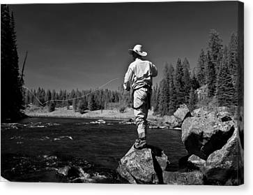 Canvas Print featuring the photograph Fly Fishing The Box by Ron White